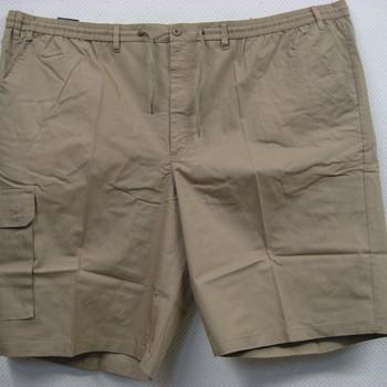 short léger coton bouton + taille élastique avec poches sur les côtés geo beige 5XL - 6XL - 7XL