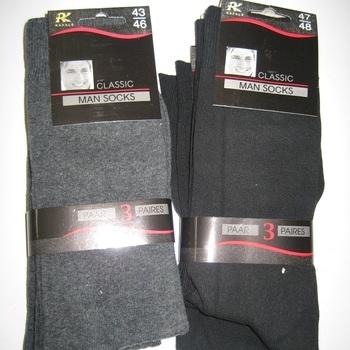 chaussettes unies avec coton pour homme - rafale - 3 pour 4.80€