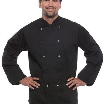 veste de cuisinier noire