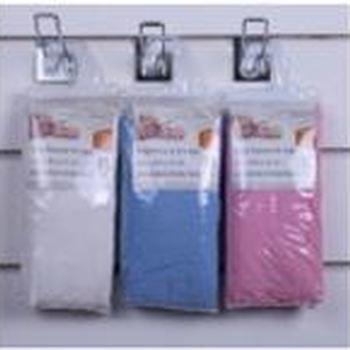 drap housse 100% coton jersey rose-ciel-blanc pour lit-cage