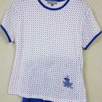 pyjashort coton pour fille - pois - 12 ans