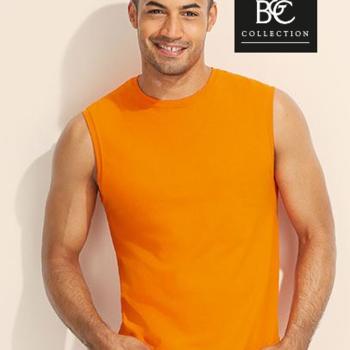 top larges bretelles uni pour homme - jazzy orange S
