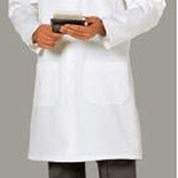 tablier pour laboratoire - 100% coton avec pressions