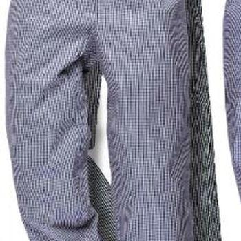 pantalon pied de poule noir/blanc en coton pour cuisinier