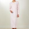 robe de nuit lm coton jersey - grandes tailles - adèle - ciel & rose en XXL