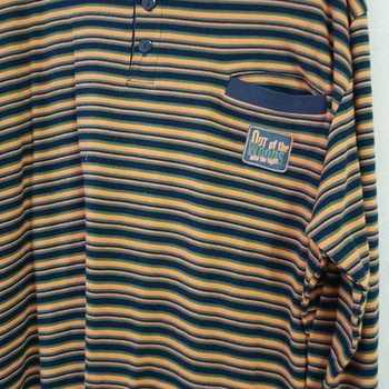 pyjama interlock (coton lourd) pour homme - william - grandes tailles EN PROMO - marine avec lignes rouille