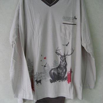 pyjama coton jersey pour homme - north canada beige - reste S EN PROMO