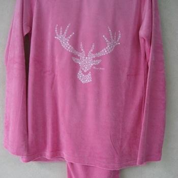 pyjama velours rasé magic forest rose pour les filles EN PROMO - reste 10 ans - 14 ans - 16 ans