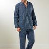 pyjama boutonné flanelle pour homme - Stephen - marine - reste S