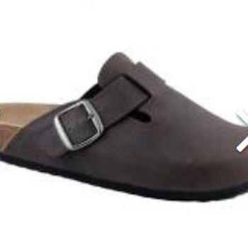 chaussons pour homme - noir ou marron avec semelle cuir - reste 41 & 46