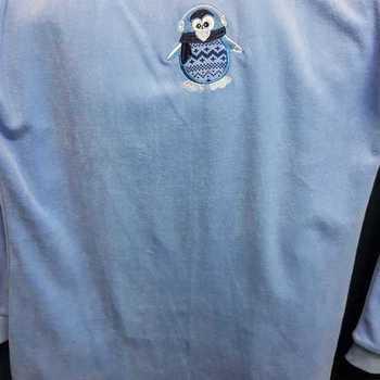 pyjama velours rasé pour filles - pingouin lavande - reste 8 ans - 10 ans