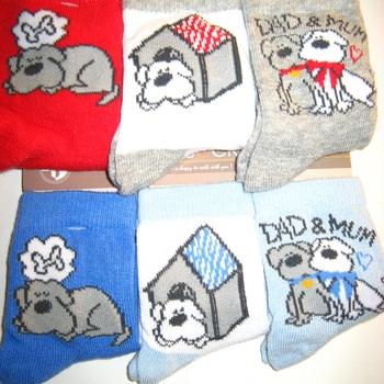 chaussettes petit chien avec 75% coton : 3 paires pour 2.20€