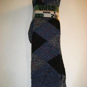 chaussettes longues avec 70% coton chiné jacquard - 2 pour 2.90€