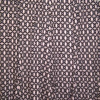 jupe imprimée lourd pour dame  - vieux rose/ noir 38/40