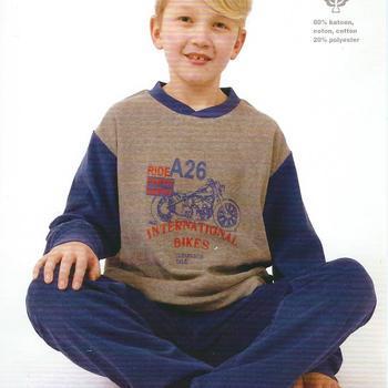 pyjama strech (éponge) pour garçon - moto bleu - 8 ans ET 14 ans