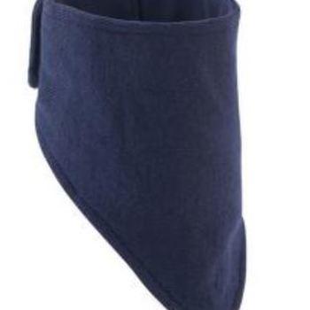 faux col extérieur tricot - intérieur polaire avec scratch derrière noir S/M - marine L/XL