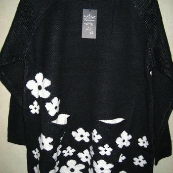 pull épais avec poches et fleurs pour dame - grandes tailles EN PROMO T52/58