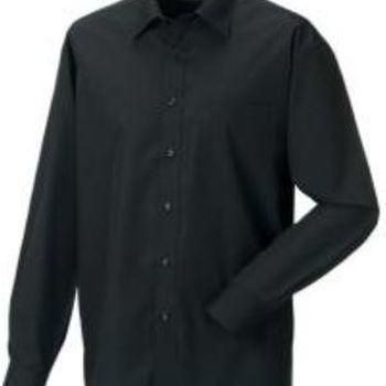 chemise longues manches en popeline - russel - noir 3XL - 4XL