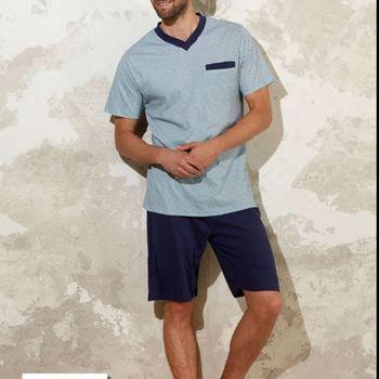 pyjashort coton jersey pour homme - grandes tailles - col V - bill 3XL