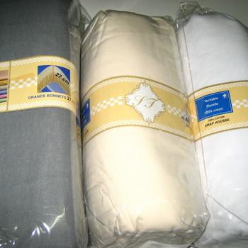 draps housse (avec élastique) & protège-matelas pour lit d'1 personne